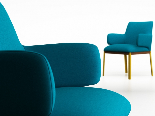 Hug small side chair 3d model arflex international spa for Small side chair