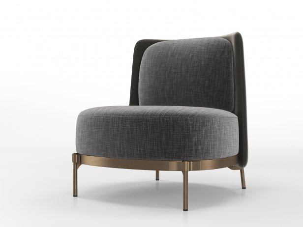 Tape Armchair Without Armrests 3d Model Minotti Italy