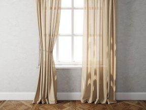 Country Solid Linen Curtains