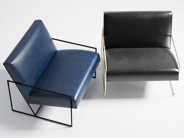 Thin Frame Lounge Chair 5