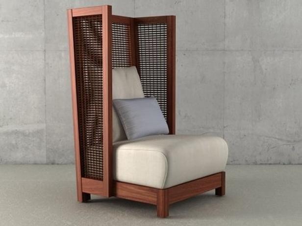 Suzy Wong Easy Armchair High Back 3d Model Kenneth Cobonpue