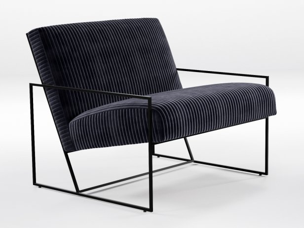 Thin Frame Lounge Chair 3d Model Lawson Fenning Usa