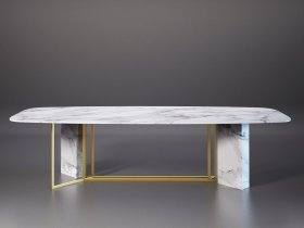 Plinto Biscuit Dining Table