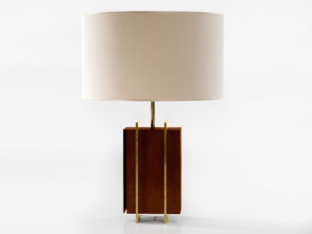 Brass Strapped Table Lamp 3