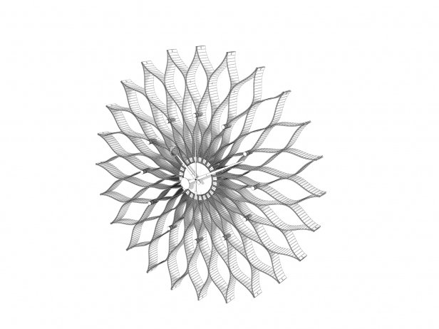 Sunflower Clock 4