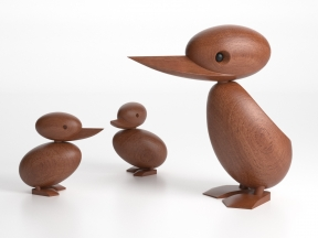 Wooden Duck and Duckling