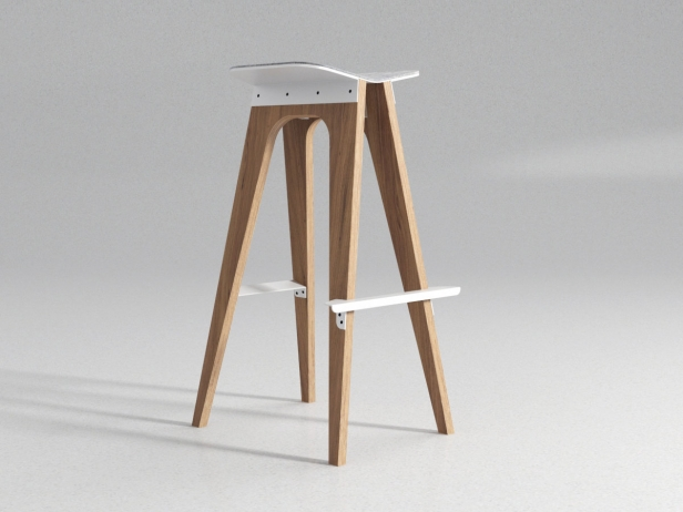 C5 Bar Stool 3d Model Odesd2