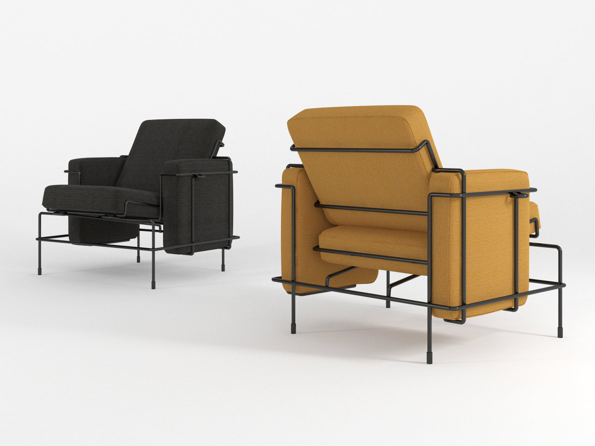 Traffic armchair 3d model magis for Magis traffic