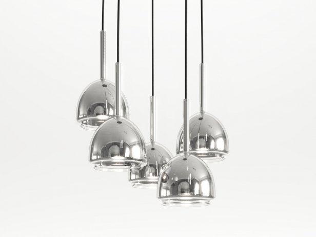 Chrome Bell Ceiling Light 5 1