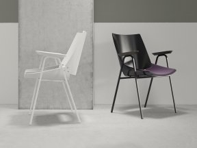 Shell Armchair with Seat Cushion