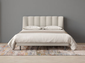 Evisa Bed with Camel Plaid