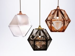 Welles Double Blown Glass Pendants