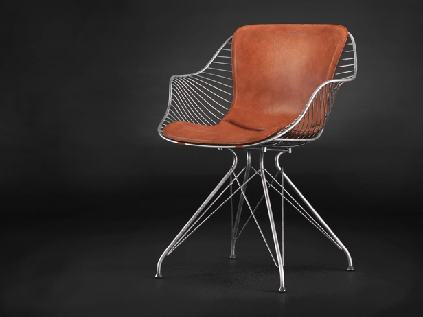Wire Dining Chair 3d Model Overgaard Amp Dyrman