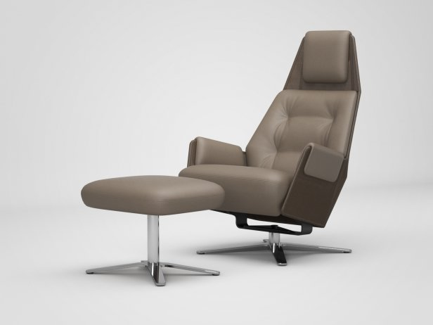 1717 Mesh 805 Armchair and 750 Footstool 1