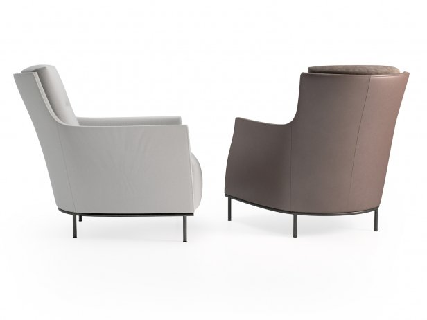 Riga Armchair Low Back New Base 4