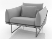Wireframe armchair 7