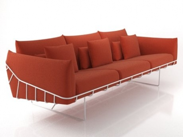 wireframe sofa 3 seat 3d modell herman miller. Black Bedroom Furniture Sets. Home Design Ideas