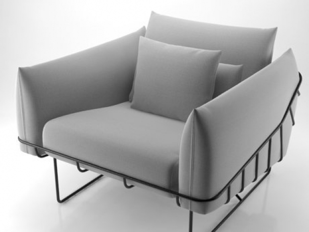 Wireframe armchair 8