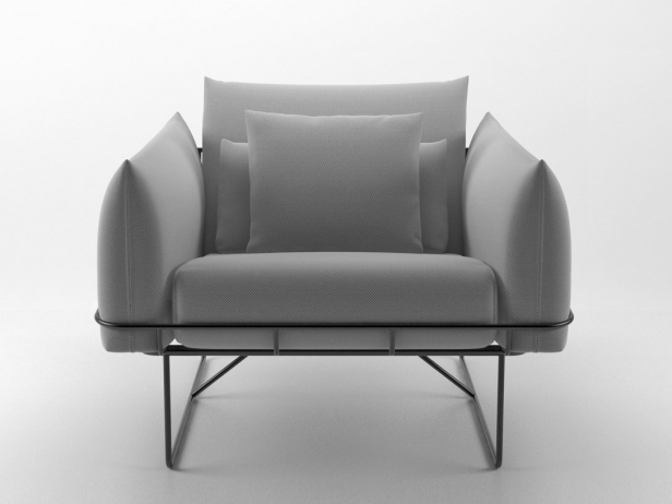Wireframe armchair 10
