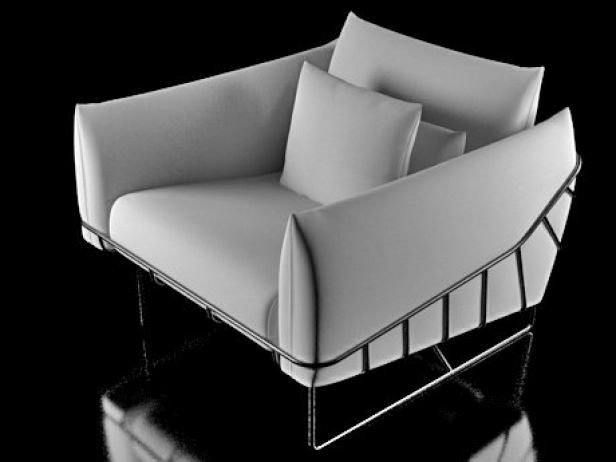Wireframe armchair 11