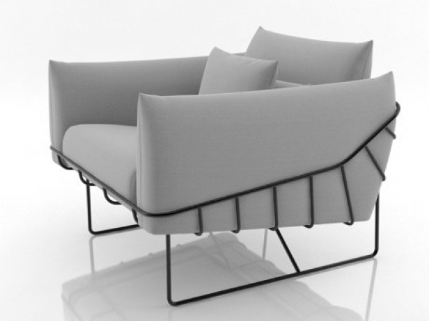 Wireframe armchair 6