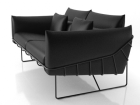 Wireframe sofa 2 seat