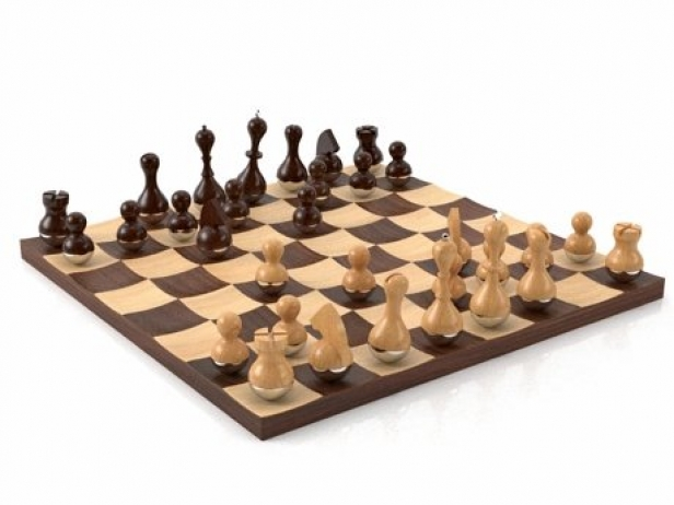 Wobble chess set 3d model umbra - Wobble chess set ...