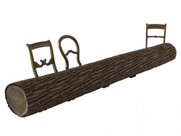 Tree trunk bench 3d model droog for Tree trunk garden bench