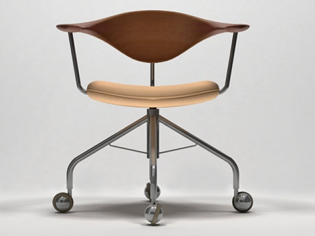 Pp502 Swivel Chair 3d Model Pp Mobler Denmark