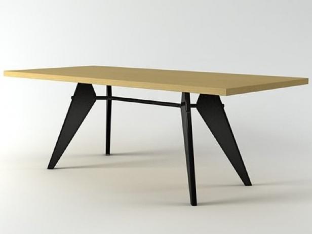 em table 3d model vitra. Black Bedroom Furniture Sets. Home Design Ideas