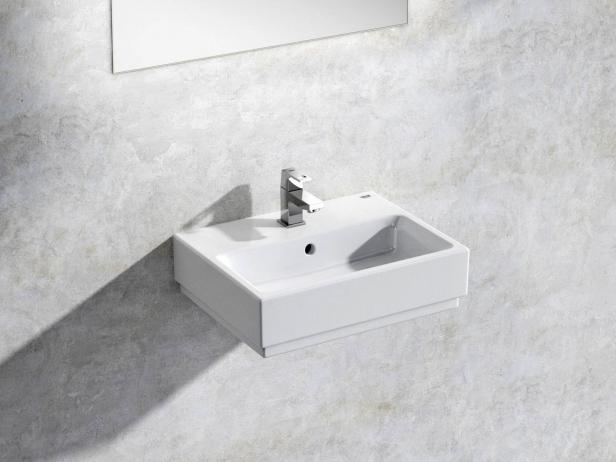 Cube Wall-hung Basin 45 Set 1