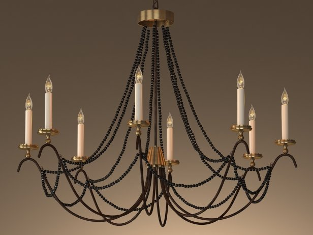 18th C Italian Bead Chandelier 45 2