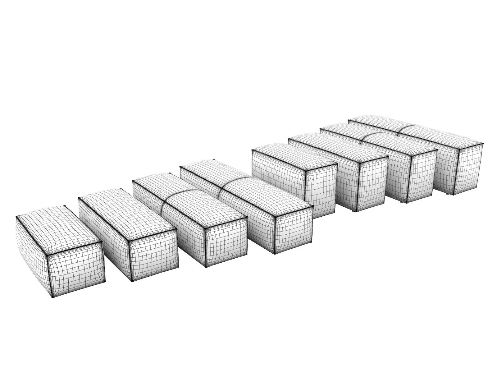 extrasoft sofa system 3d model living divani