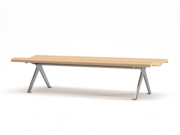 Poca Outdoor Bench without Backrest 1