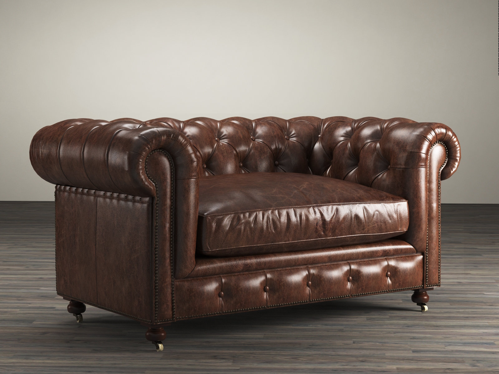 Restoration Hardware Leather : Quot kensington leather sofa d model restoration hardware