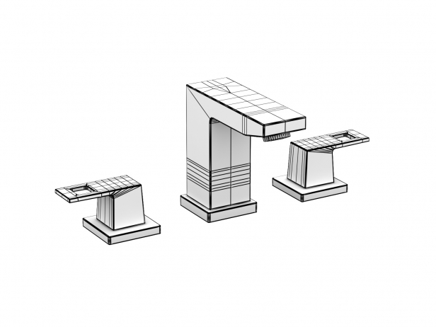 Cube Semi-recessed Basin 60 Set 9