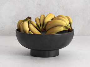 Banana Clusters in Terra Cotta Bowl