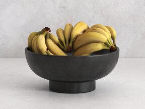 Banana Clusters in Terra Cotta Bowl
