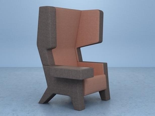 Ear Chair 3d Model Prooff Netherlands