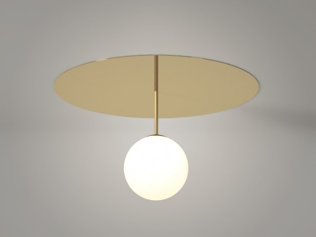 Plate and Sphere Ceiling Lamp 2