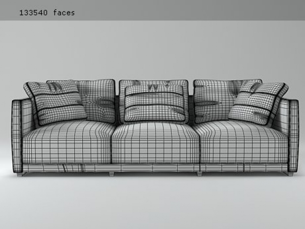 Sketch sofa modello 3d ligne roset for Sofa design sketch