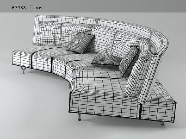 Bank Design Montis.Baku Sofa 3d Model Montis Netherlands
