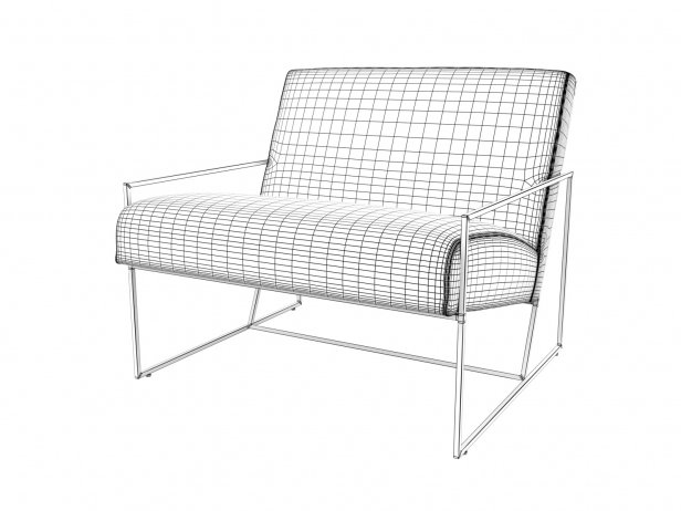 Thin Frame Lounge Chair 6