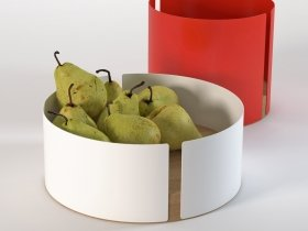 Peel Fruit Bowl with Pears