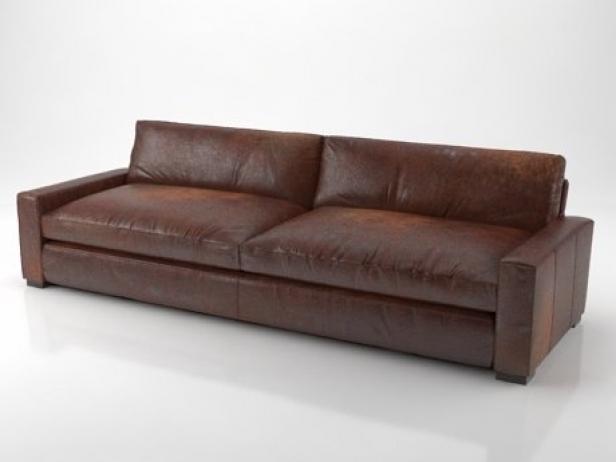 10 Maxwell Leather Sofa 3d Modell Restoration Hardware