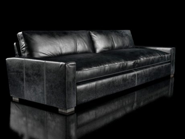 10 39 maxwell leather sofa 3d model restoration hardware