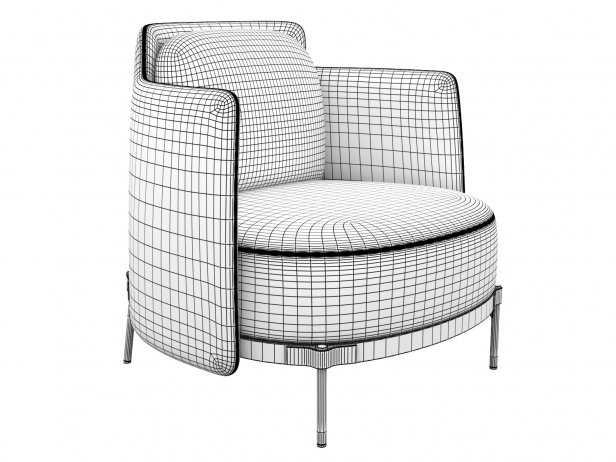 Tape Armchair with Armrests 4