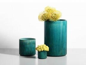 JAMALI GARDEN Teal Linen Ceramic Vases