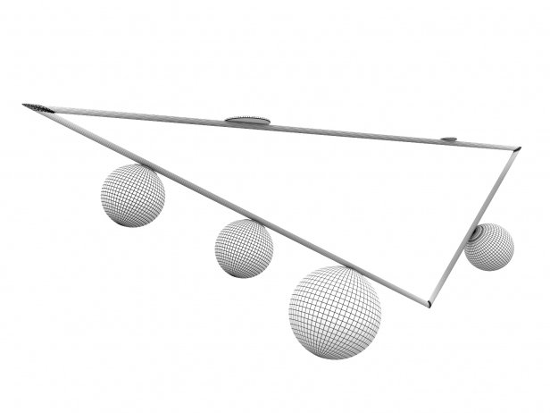 Triangle 3+1 Globes Ceiling Lamp 4