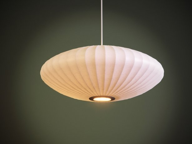 Nelson Bubble Lamp Saucer 3d Model Modernica Usa
